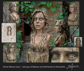 Emma Watson bust / Sad eyes of Medusa by PiotrHarold