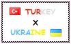 Stamp  Turkey X Ukraine by OttomanTurky