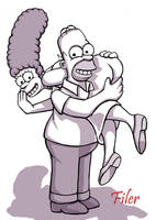 Homer Loves Marge by Flyler