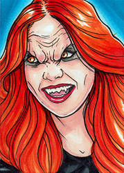 Karen Gillan Vampire by Christopher-Manuel