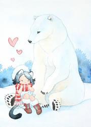 The polar bear by Rozenng