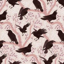 Crow pattern by Rozenng