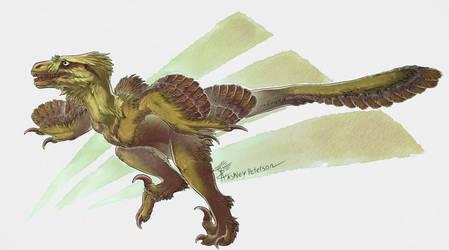Utahraptor by Mantiscat