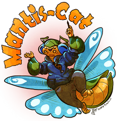 Mantis-Cats Back by Mantiscat