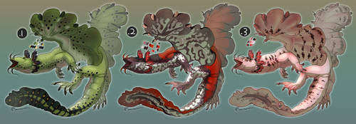 Water Wyrms: Adoptables (All Open) (NEW PRICE) by Mantiscat