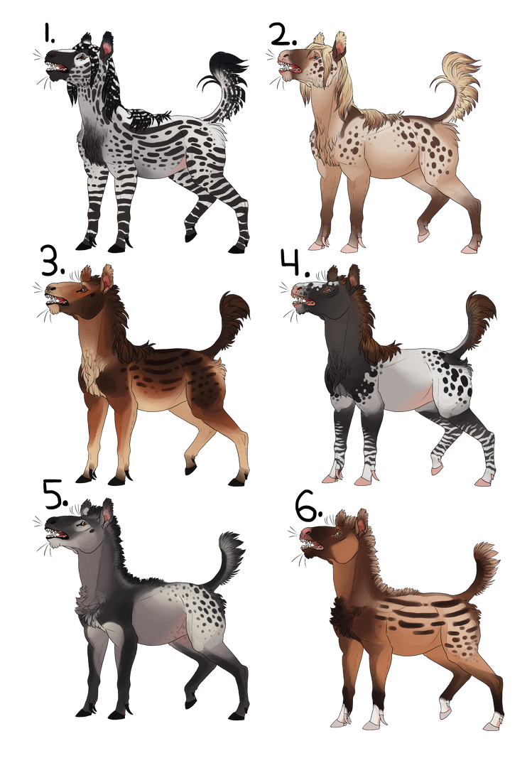 A Batch of Torgas: Adoptables (3 Open) by Mantiscat