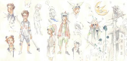 Tekkonkinkreet sketch sheet by JohnDevlin