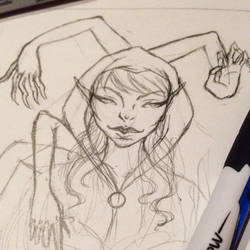 Late Night Sketching!  by KonniTheVampire