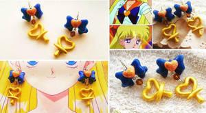 Handmade sailor Venus Inspired Earrings by mayumi-loves-sora