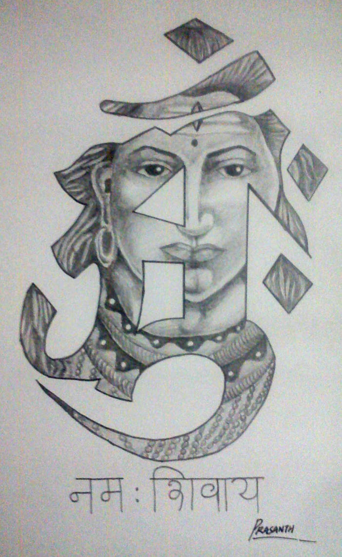 Lord shiva tattoo design by prasanthprakash