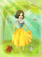 Snow White with Friends by LilaCattis