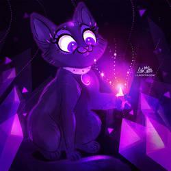 Amethyst Kitty by LilaCattis