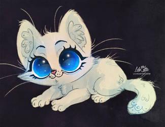 White Kitten by LilaCattis