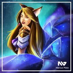 Ahri - League of Legends KDA by marcusagm