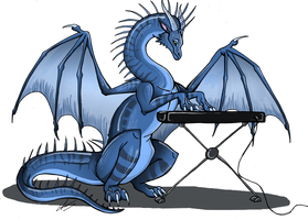 Keyboard Dragon by QWERTYDragon00