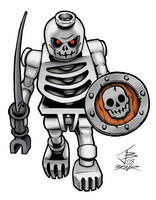 Lego Skeleton Warrior Color by PrimeOp