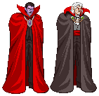 Dracula (Castlevania) sprites by PrimeOp