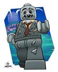Lego Zombie (CMF series 1) - 2014 by PrimeOp