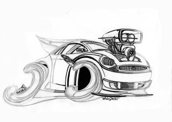 Ford Ka Toon Lineart by theTobs