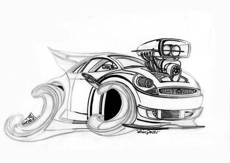 Ford Ka Toon Lineart By Thetobs On Deviantart