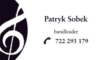 bandleader business card by forty-winks
