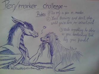 Pen/marker challenge~ by YukinaCZ