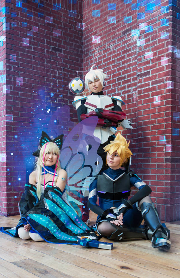 Gunvolt Cosplay by JewelMaiden