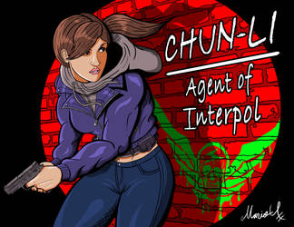 Undercover Chun Li Agent of Interpol Colored by MarioUComics