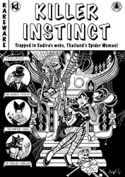 Killer Instinct Sadira horror comic cover inked by MarioUComics