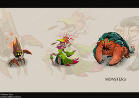 Monster plants design by DancingWitch