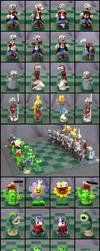 Plants Vs. Zombies Chess Set by Cyle
