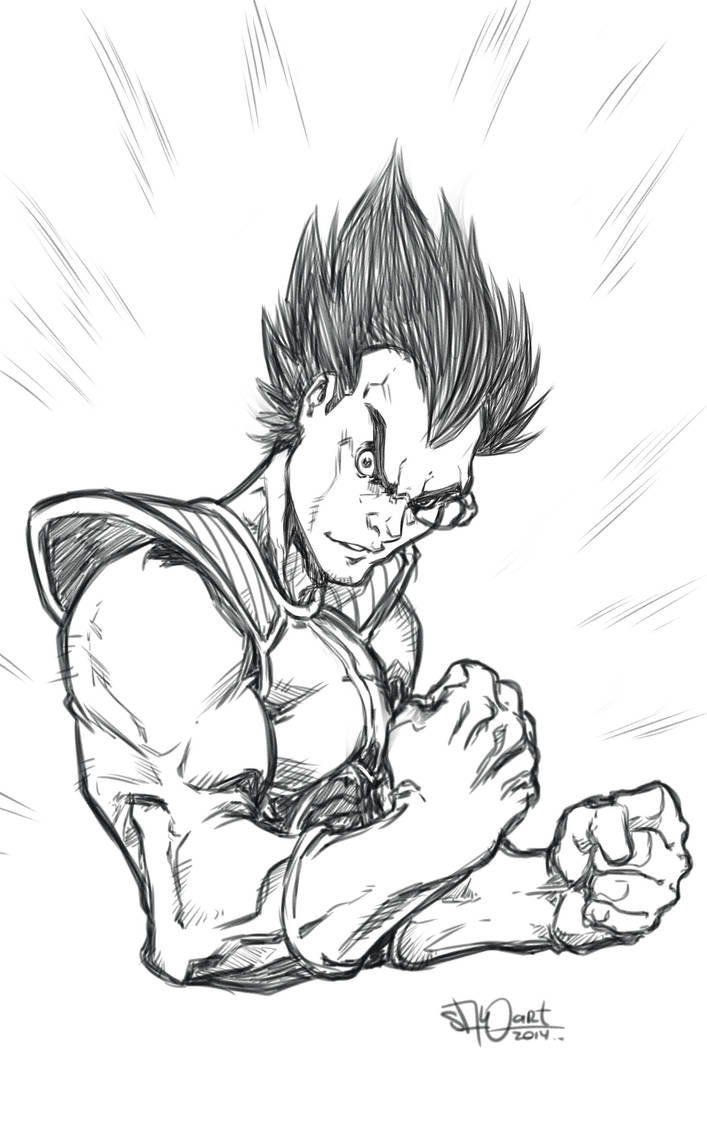 vegeta sckech by salo-art