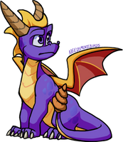 Spyro having a sit down by Hogia