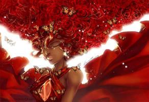 Lady in red by Cetriya