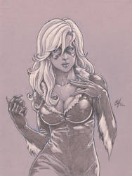 Black Cat sketch commission by Oshouki