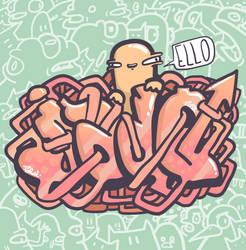 graffiti art by DISC0MB0BULATED