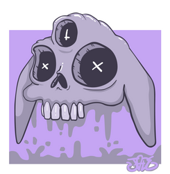 Skull bunny by DISC0MB0BULATED