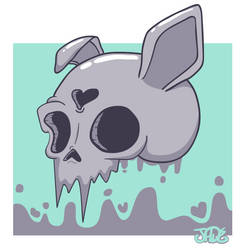 another skull bunny by DISC0MB0BULATED