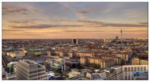 Berlin in evening sun by Haufschild
