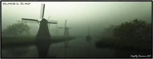 Windmills In The Mist by NightlyDreamer