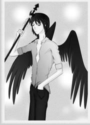 Raven the fallen Angel by Wulf-Moon