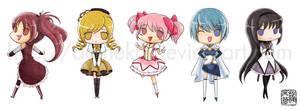 Madoka Magica stickers by aoineko
