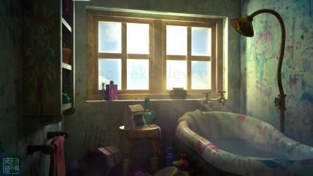 Howl's Moving Bathroom by aoineko