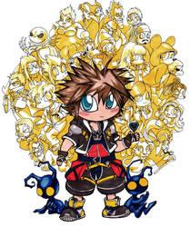 Chibi Sora, Kingdom Hearts by spikecomix