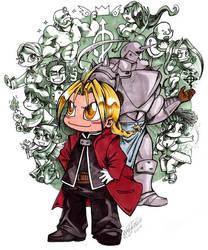 Chibi Full Metal Alchemist by spikecomix