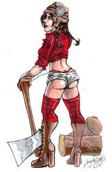 Pinup - Nat Lumberjack by spikecomix