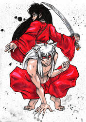 InuYasha - the two halves by spikecomix