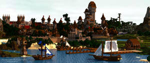 Sharthur City Project | Boats Docking at Sunset by MinecraftPhotography