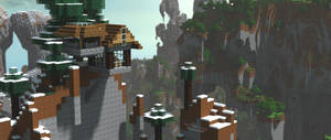 Mountain-Top Home   Minecraft Survival Build by MinecraftPhotography
