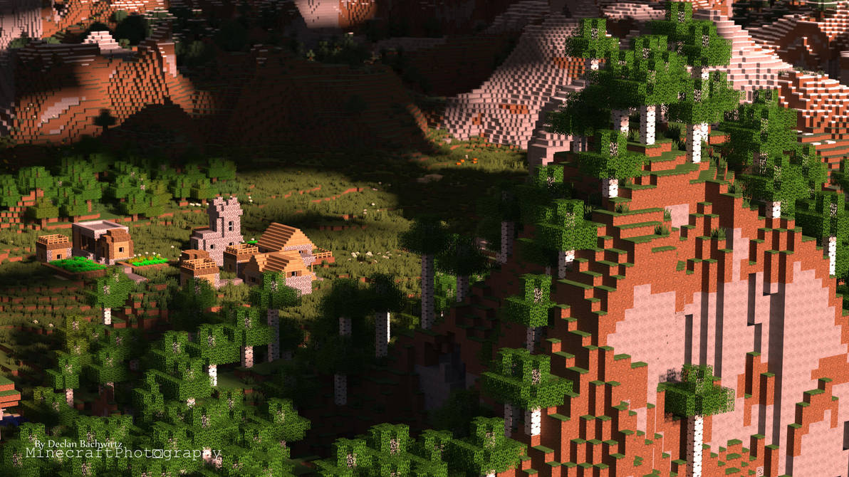 Minecraft Birch Hill Wallpaper Uhd By Minecraftp Ography